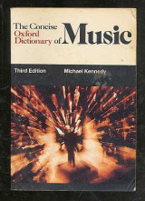 The Concise Oxford Dictionary of Music (Oxford Quick Reference)