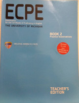 Ecpe examination for the certificate of proficiency In English