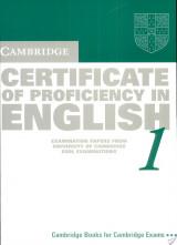 Cambridge Certificate of Proficiency in English 1 Student's Book