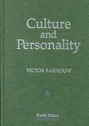 Culture and Personality (Dorsey Series in Anthropology)